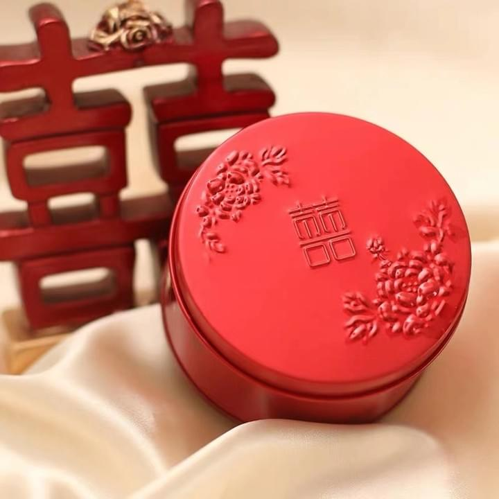 Food Grade Custom wedding Candy Tin Boxes with embossing