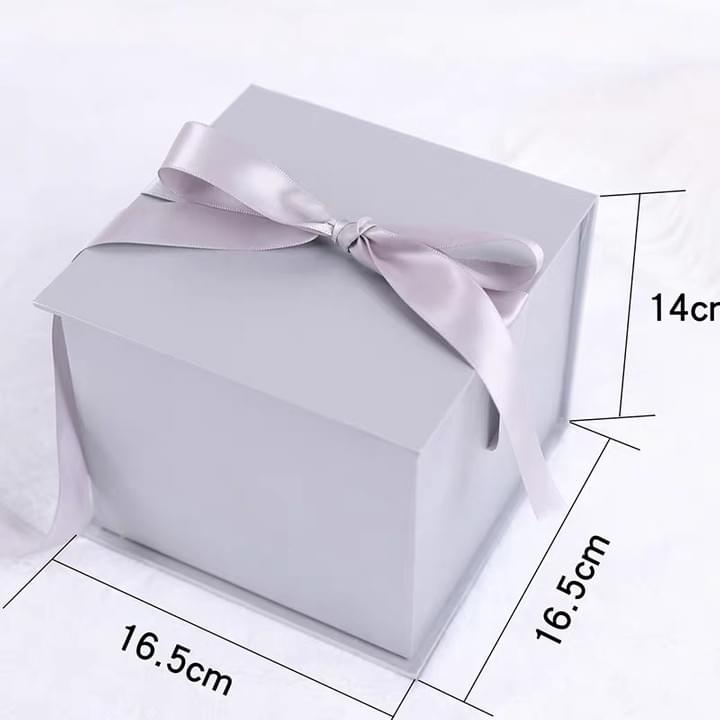 Metallic Silver Gift Boxes with Ribbons for Wedding Baby Shower Decorations Birthday Party