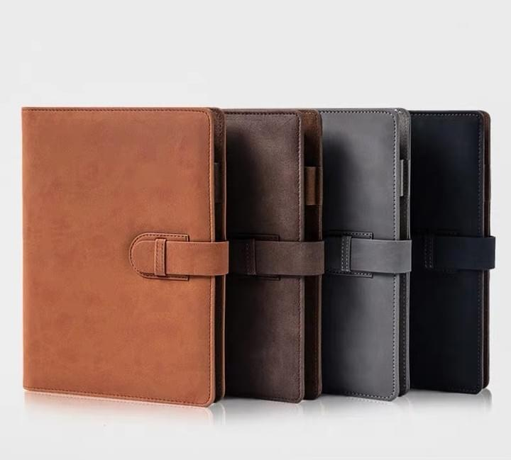 Leather Journal Case with pockets and pen holder