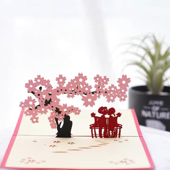 3D Love Pop Up Valentine Greeting Cards