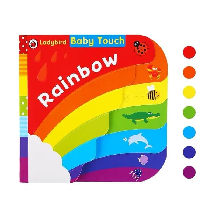 Children's die cut tabbed Rainbow Board books