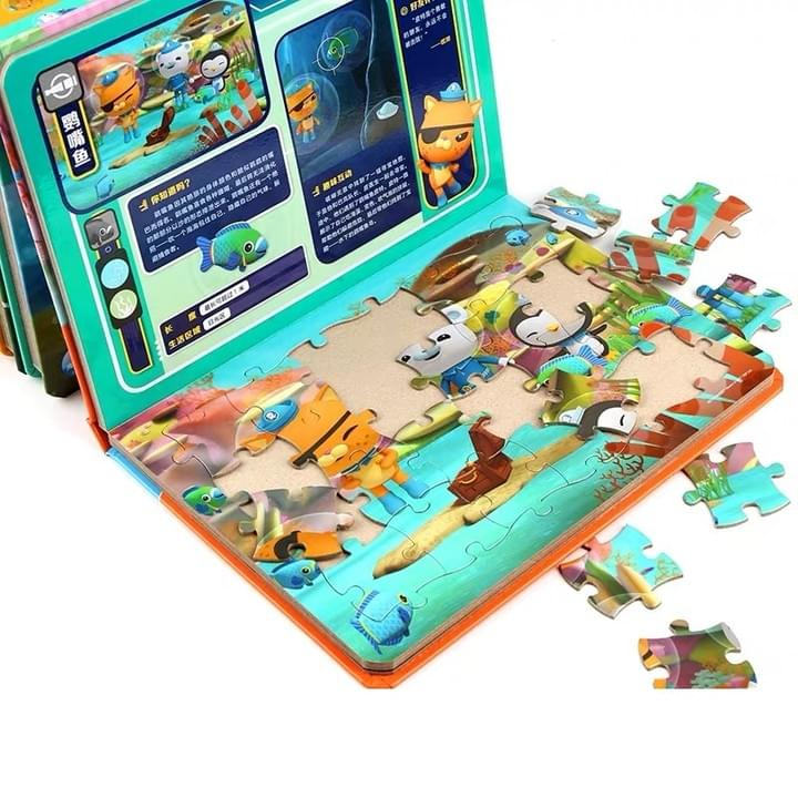 children jigsaw puzzle book