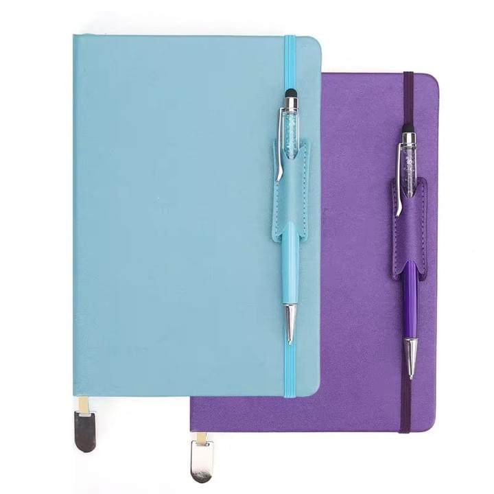 Diary with pen holder
