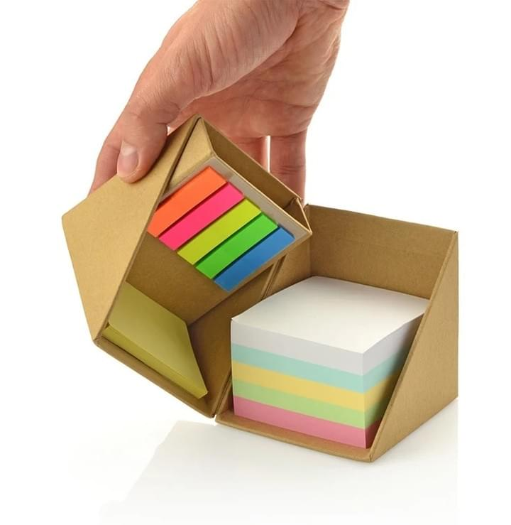 Promotion Sticky Note Pads With Pen Holder Cube Box