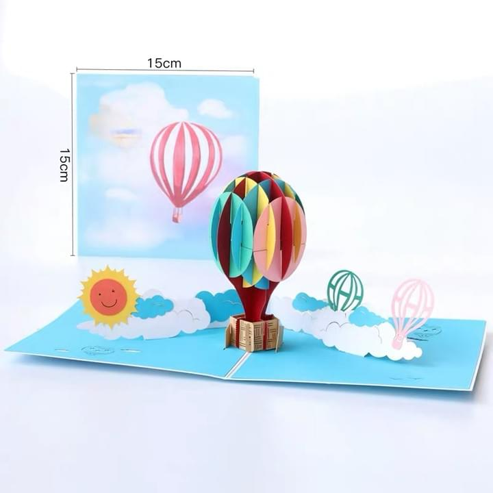 3D hot air balloon Pop up Cards