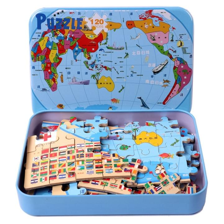 World Map Paper Puzzle