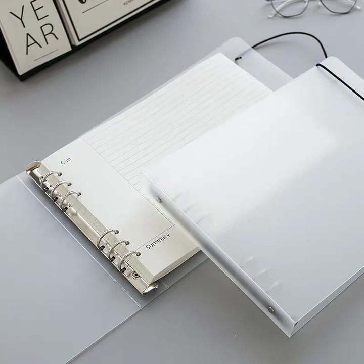 clear PVC cover notebooks