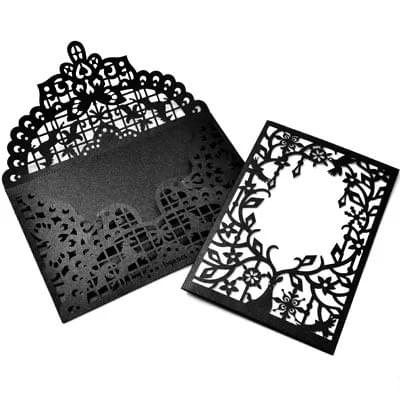 Black Laser cut Greeting Cards