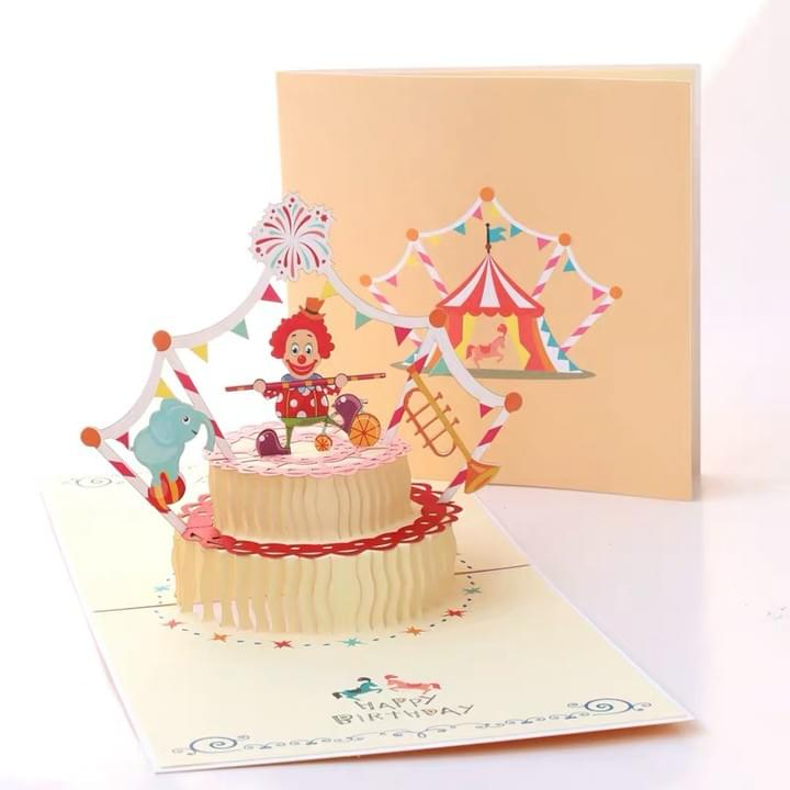 3D cake Pop Up Happy Birthday Greeting Cards