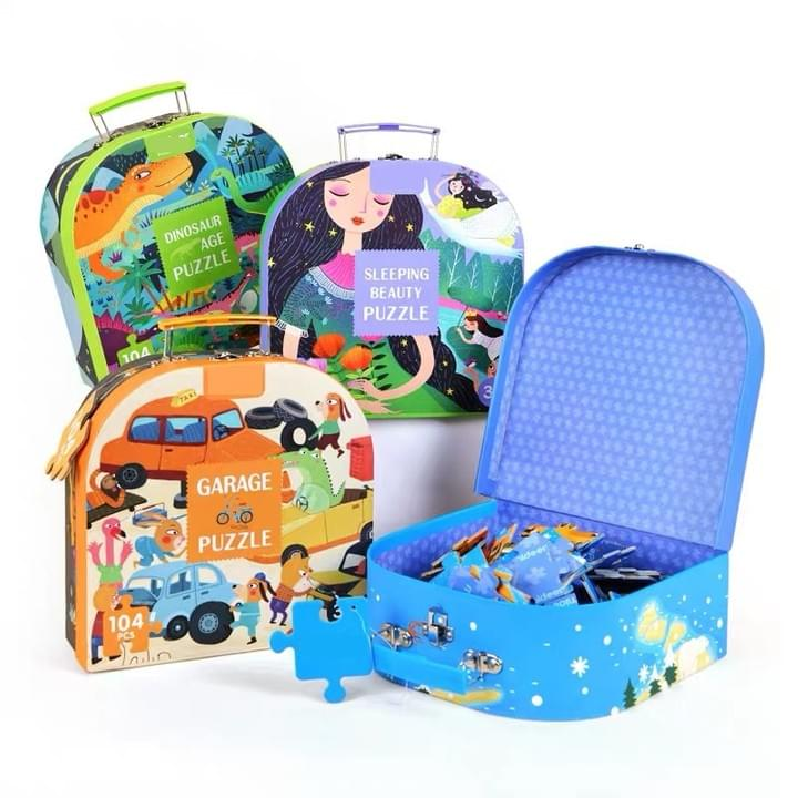 jigsaw puzzle lunch box set