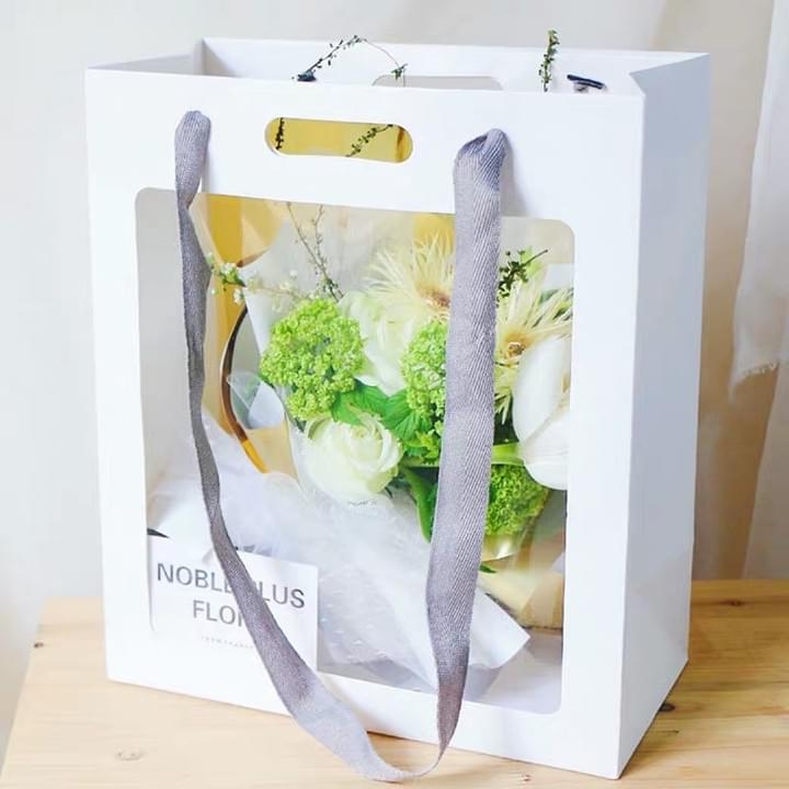 White Paper Bags with PVC window