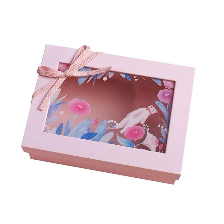 Customized Gift box with clear window lid
