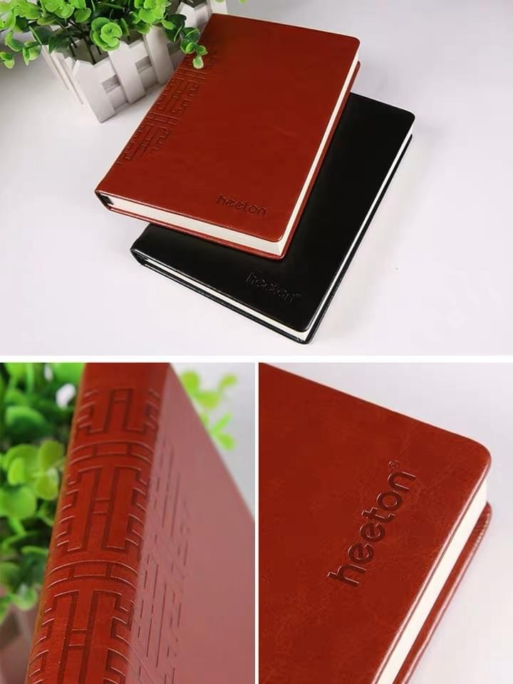 Leather Case notebook with embossing customized Logo