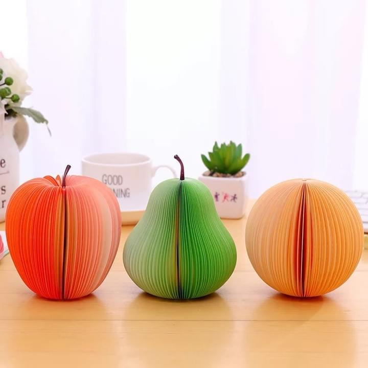 3D Fruit-Shaped Memo Pads