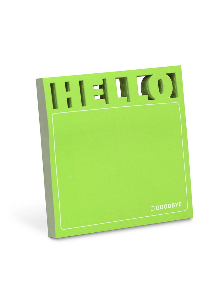 Die cut words Memo Pad