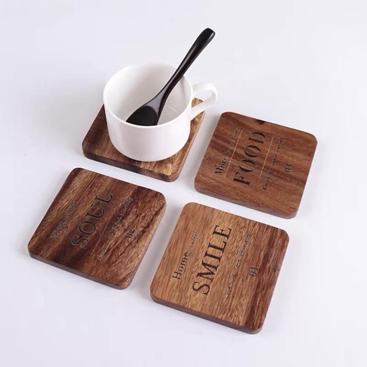 Promotional Square Wooden Coasters