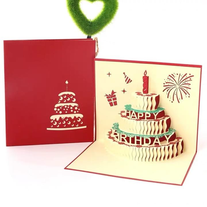 3D Happy birthday Pop Up Greeting Cards