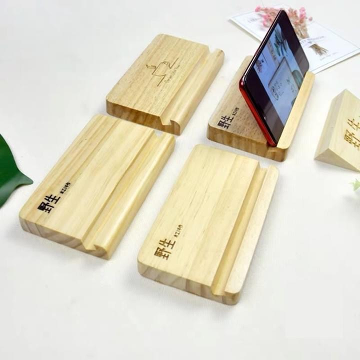 1 Pc Phone Holder Wooden Phone Support