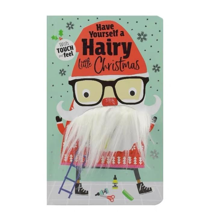 Children's Moustache Christmas Touch and Feel Books