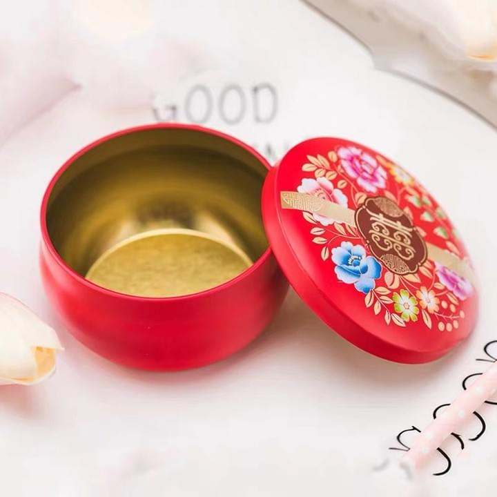 Food Grade Custom Round Cookie Tin Boxes