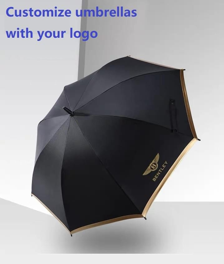 Promotional Fiberglass Ribs Auto Straight  Umbrellas
