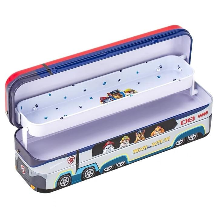 double layers Stationery  pencil Tin Boxes