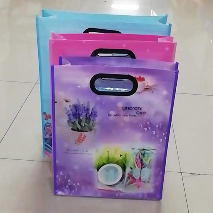 Custom Non woven Bags with plastic handle