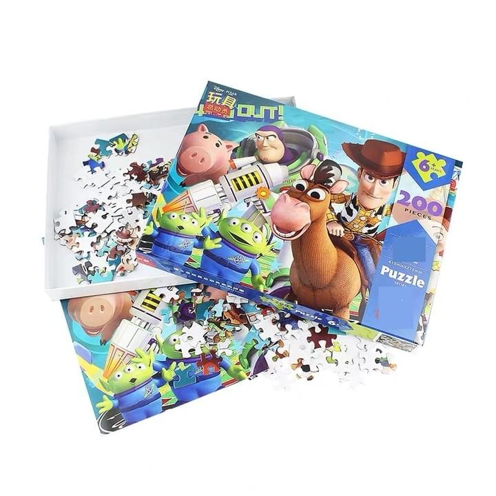 cartoon paper jigsaw puzzle