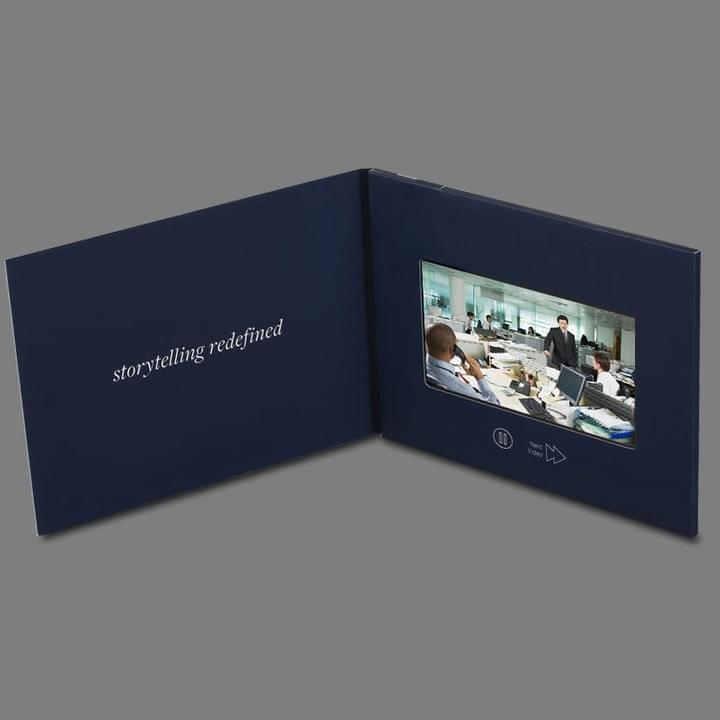 Customized LCD Screen Video Presentation Marketing Brochures