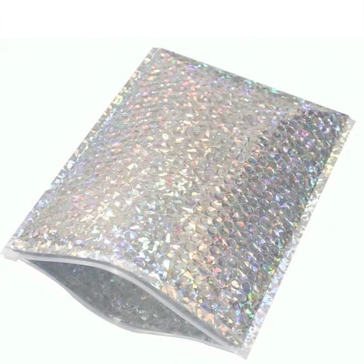 Custom Metallic holographic Bubble Mailers Self Seal Padded Envelopes