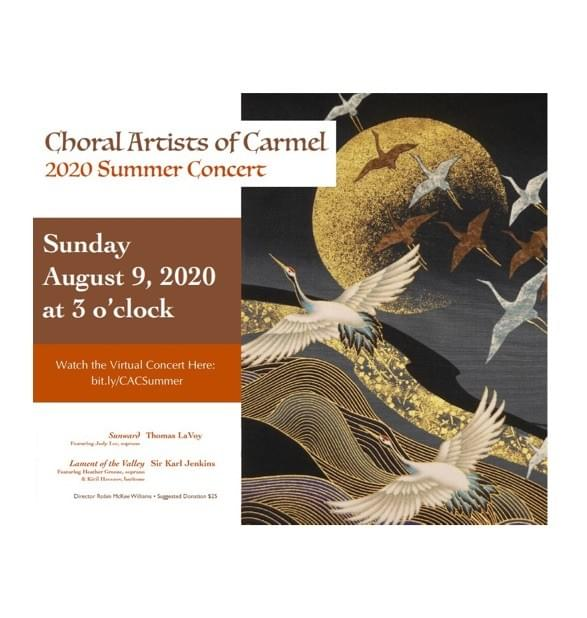 Choral Artists of Carmel, Summer 2020