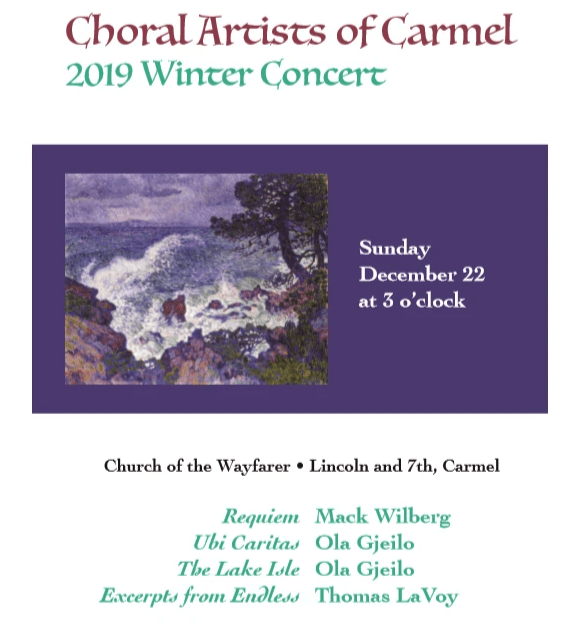 Choral Artists of Carmel, Spring 2019 Concert