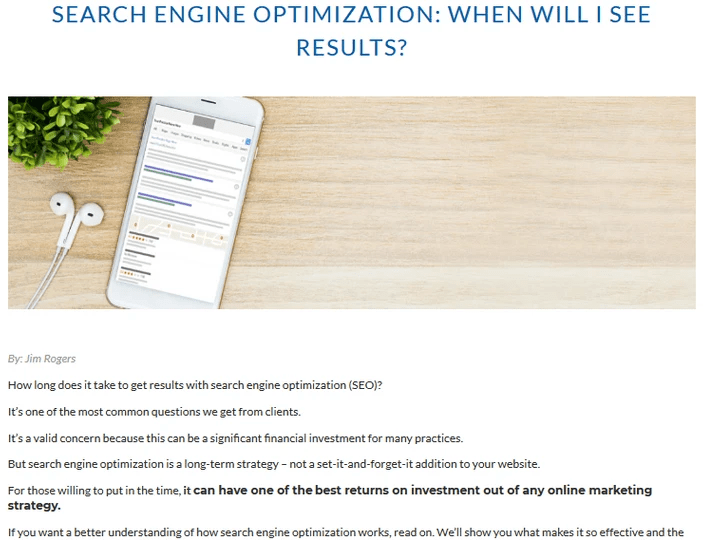 Search Engine Optimization Blog Article