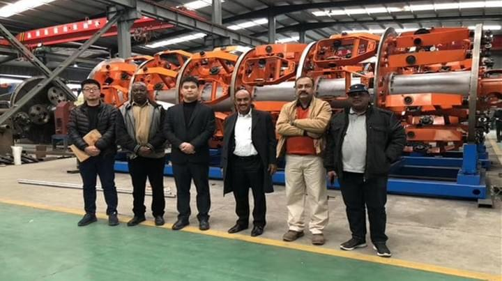 africa cusotmer visit Ningbo Capstaner Technology Co.,Ltd.assembling workshop