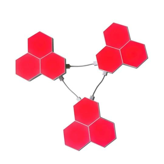 Hex touch lights red