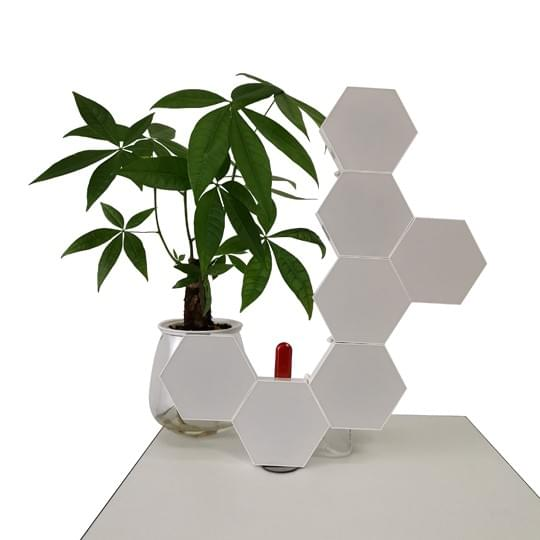 hexagon lights on table