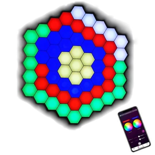 APP operated hexagon lights