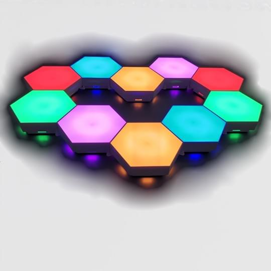 Multi-color hexagonal lights