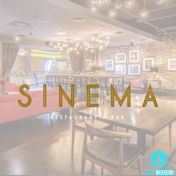 Sinema Restauranat & Bar is located at historic Melrose Theater in 1942. It has since then been updated to a style reinvented into the modern day with included elements of the theater's history.