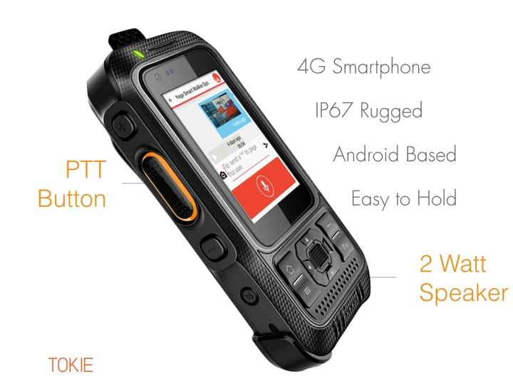 Smart Walkie Talkies Phone with PTT Button