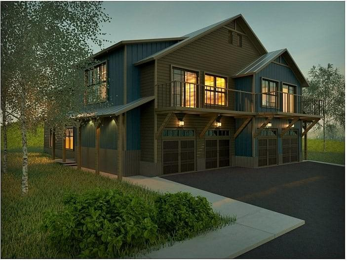 Project: Crested Butte: Rendering of 1 Building, 2 Units