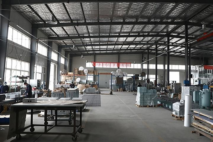 sheet metal stamping services, this phoio is suntech sheet metal factory.