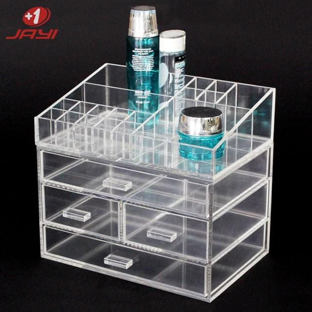 Acrylic cosmetic storage box Layered storage, Neat and clear