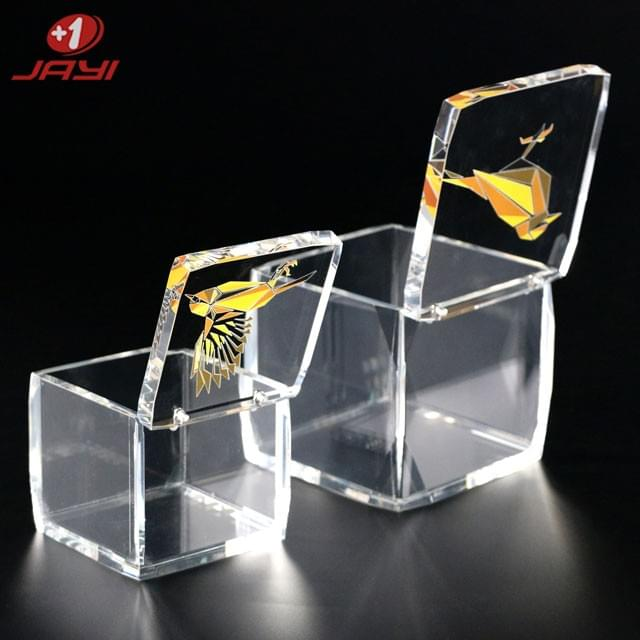 Chamfered acrylic box selection of acrylic material, no scratches, high transparency