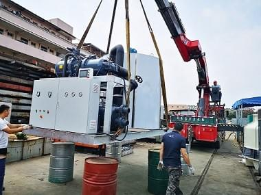 30 ton daily flake ice machine was ready for shipment