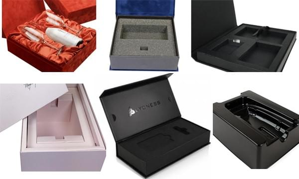 rigid boxes with various wrapped paper
