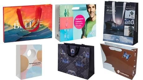 luxury paper bags with cmyk full color printing