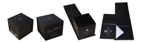 custom foldable rigid boxes with printed logo and magnetic closure