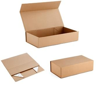 foldable kraft gift boxes with magnetic closure