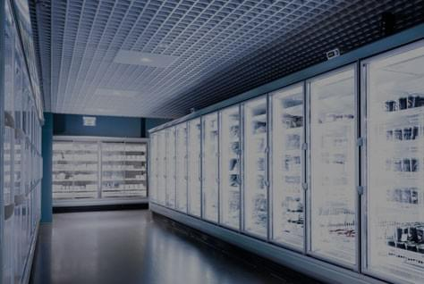 A picture of multiple refrigerators for commercial use.